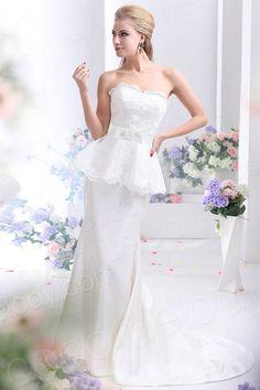 Stylish Sheath Column Strapless Court Train Taffeta Wedding Dress CWZT13004 $253.87 wedding dress, wedding dress, wedding dress, wedding dress, wedding dress