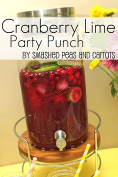 Smashed Peas and Carrots: Cranberry Lime Party Punch-RECIPE