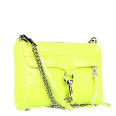 Rebecca Minkoff Mini MAC Clutch in Chartreuse with Light Gold Hardware available Rebecca Minkoff Handbags, Gold Hardware, Spring Summer Fashion, Black Leather, Shoe Bag, Macs, Free Shipping, Convertible, Fashion Ideas