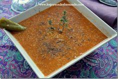 Soupe à la semoule d'orge et au thym (hrira tchicha be zaatar) - Les Joyaux de Sherazade