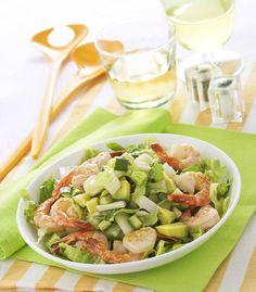 Insalata con gamberi e zucchine