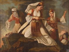 Women of the 1821 Greek Revolution Greek Independence, Greek Paintings, Greek History, 10 Picture, Greek Art, In Ancient Times, History Facts, Hair Designs, Revolution