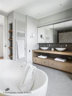 Strak landelijke badkamers