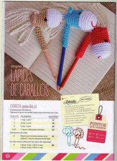 4 Patrones Amigurumis ¡para Regalar! | Otakulandia.es Crochet Home, Crochet For Kids, Diy Crochet, Crochet Baby, Crochet Patterns Amigurumi, Knitting Patterns, Pen Toppers, Sewing Toys, Crochet Animals