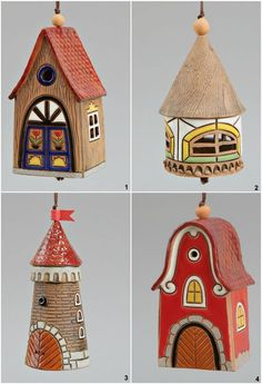 Ceramic House Bell,  Kids toy, School Accessories, Teacher gifts