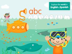 Expose your child to the amazing aquatic world in English and Spanish through sight, sound & touch.