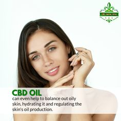 CBD oil can even help to balance out oily skin, hydrating it and regulating the skin's oil production. Oil Production, Oils For Skin, Health Matters, Oily Skin, Hemp, Health And Wellness, Canning, Cannabis, Organic