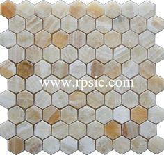 MH-23 Hexagon Honey Onyx 1in