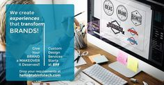 We CREATE experiences that transform BRANDS! Custom Design Services Starts at Just $99   Email at hello@tabinfotech.com or DM with requirements for custom design services and we'll send you custom quotation   #brand #branddesign #logodesign  #flyerdesign #businesscards #letterhead #brandidentity #creative #creativedesign #graphicdesign #graphicdesigner