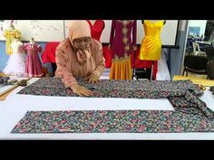 Teknik Menggunting Baju Kurung Tradisional - YouTube