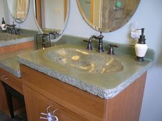 Concrete Sinks - Poulsbo, WA - Photo Gallery - The Concrete Network