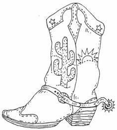 Unmounted Rubber Stamp, Southwestern, Cowboy Boot, Western, Southwest Boot,