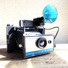 Polaroid 210 Land Camera with Flash~~just like my new camera(:(: