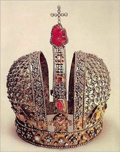 Beautiful and old Russian crown.