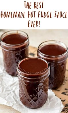 Want to know the secrets to making the best old fashioned hot fudge sauce? This is the hot fudge recipe you have been looking for! Fudge Recipes, Candy Recipes, Chocolate Recipes, Sweet Recipes, Chocolate Sauce Recipe For Ice Cream, Sauce Recipes, Thm Recipes, Hot Fudge Sauce Recipe Cocoa, Hot Chocolate Toppings