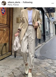 : Todays Articles of Interest from Around the Internets -News : Todays Articles of Interest from Around the Internets - ig: is_ Elborn Doris femme fatale (Elie Saab) Look Fashion, Daily Fashion, Korean Fashion, Winter Fashion, Beige Outfit, Blazer Fashion, Fashion Outfits, Womens Fashion, Mode Pastel