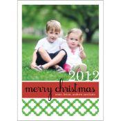Preppy Modern Christmas Photo Cards  by @whhostess