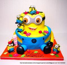 Despicable Me : Minions Giant 3D cake Singapore | Sensational Cakes ...