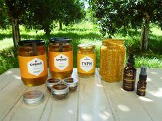 Μέλι ανθέων από τις πλαγιές του Ξηροβουνίου στην Πίνδο. Γύρη νωπή και προϊόντα πρόπολης.