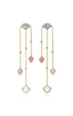 Kashan Triple Drop Earrings by Noush Jewelry Fall Winter 2018