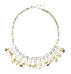 Short cast crystal necklace. LOFT $39.50