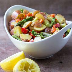 Asparagus Potato Salad with Jalapeño Dressing