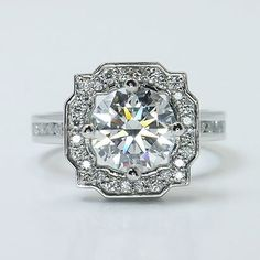 """Everyone will definitely love our """"Custom Halo Setting in Platinum""""! Get a custom quote here: www.brilliance.com"""