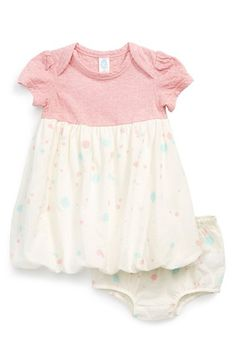 Stem Baby Organic Cotton Bubble Hem Dress (Baby Girls) available at #Nordstrom