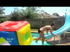 #  Swimming Pool And Slide Bloopers Funny Stuff     http://tracksandloops.weebly.com/