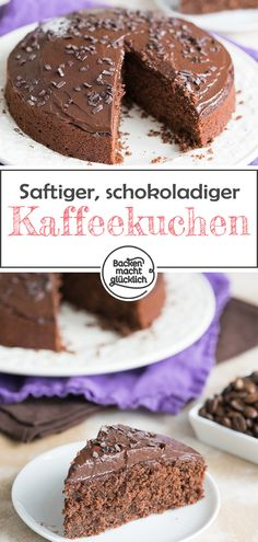 Schoko-Kaffee-Kuchen Such a coffee and hazelnut cake is a wonderful combination: this juicy chocolate cake with coffee is wonderfully aromatic and delicious. If you like mocha, you will love the chocolate espresso cake! Chocolate Cake With Coffee, Coffee Cake, Chocolate Chocolate, Moka, Espresso Cake, Hazelnut Cake, Coffee Recipes, Cupcake Recipes, Tray Bakes