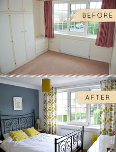 Before & After: A Yorkshire Bedroom Goes From Beige To Beaut...