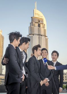 EXO In Dubai #BurjKhalifa Im so proud of youu guysss