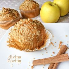 You searched for manzana - Divina Cocina Vegan Muffins, Candy Cakes, Yummy Food, Tasty, Bread Machine Recipes, Breakfast Snacks, Apple Desserts, Cupcake Recipes, Bakery