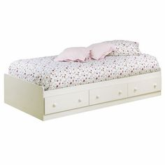 South Shore Summer Breeze Collection Twin Mates Bed White Wash | Walmart.ca