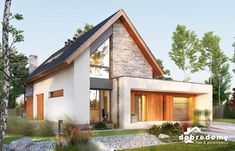 This excellent photo most certainly is an inspiring and exceptional idea Modern Bungalow Exterior, Modern Farmhouse Exterior, Dream House Exterior, German Houses, Minimal House Design, Sims House, Industrial House, Facade House, Exterior Design