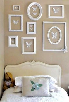 summer home tour Jennifer Rizzo: Summer tour of homes day Butterfly Wall!Jennifer Rizzo: Summer tour of homes day Butterfly Wall! Girls Bedroom, Bedroom Decor, Bedroom Wall, Bedroom Ideas, Girls Room Wall Decor, White Wall Decor, Bedroom Pictures, Frame Wall Decor, Decor Room