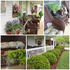 Spring porch..http://picketsplace.blogspot.com