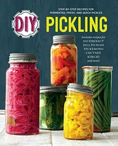 "Read ""DIY Pickling: Step-By-Step Recipes for Fermented, Fresh, and Quick Pickles"" by Rockridge Press available from Rakuten Kobo. Make the time-honored tradition of pickling simple and accessible with this handy DIY guide. From Japanese Tsukemono to . Okra Recipes, Sauerkraut Recipes, Canning Recipes, Fermented Sauerkraut, Jelly Recipes, Fun Recipes, Detox Recipes, Paleo Recipes, Delicious Recipes"