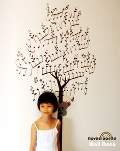 Brittany, how about this on the wall by your piano? ilovedoodle wall deco?  via Flickr