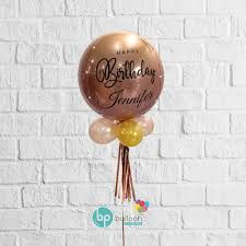 Balloon Gift Box consists of: 1 x Orbz Balloon with custom message Colour customised box with small artificial floral arrangement Include custom message in the notes section at checkout.