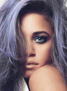 lavender purple pastel hair