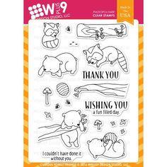 Ellen Hutson LLC - WPlus9 Design Studio Clear Stamps, Curious Forest Friends, $15.00 (http://www.ellenhutson.com/wplus9-design-studio-clear-stamps-curious-forest-friends/)