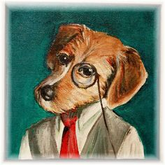 Customized Dandy Portrait of your pet or by DandyPetPortraits, $180.00