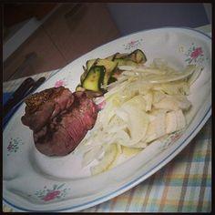 #filetto con #zucchine grigliate e insalata di #finocchio / #cucina #casalinga #chef #masterchef #instafood #carne #homemade