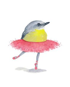 Title: Ballet Birdie No. 30    Ive loved ballet ever since my very first class at the age of 3. I still manage to drag my body to class twice a