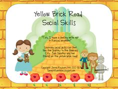 """""""Toto, I have a feeling we're not in Kansas anymore!""""  Learning social skills can feel like the journey to the Emerald City. Join Dorothy and her friends on the yellow brick road and practice a variety of social skills. Yellow Brick Road Social Skills is a packet for social skills in children preschool-middle school. [...]"""