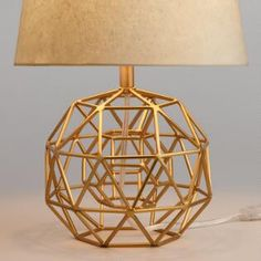 Gold Home Accents Room Decor - Gold Geo Globe Accent Lamp Base by World Market. Table Lamp Base, Lamp Bases, Table Lamps, Gold Globe, 1950s Decor, Gold Aesthetic, Bright Homes, Rustic Lamps, Unique Lamps