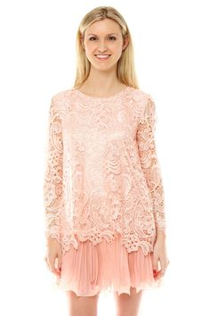 Layer a lace top over a pleated dress/skirt!