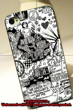 All time low art 4/4s,5/5s/5c, Samsung Galaxy s3/s4 Case