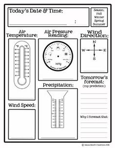 weather tools worksheet this could be a great worksheet to use after going over the different. Black Bedroom Furniture Sets. Home Design Ideas